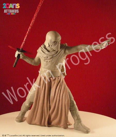 Kylo Ren Elite Séries Statue - ATTAKUS Kylo_r11