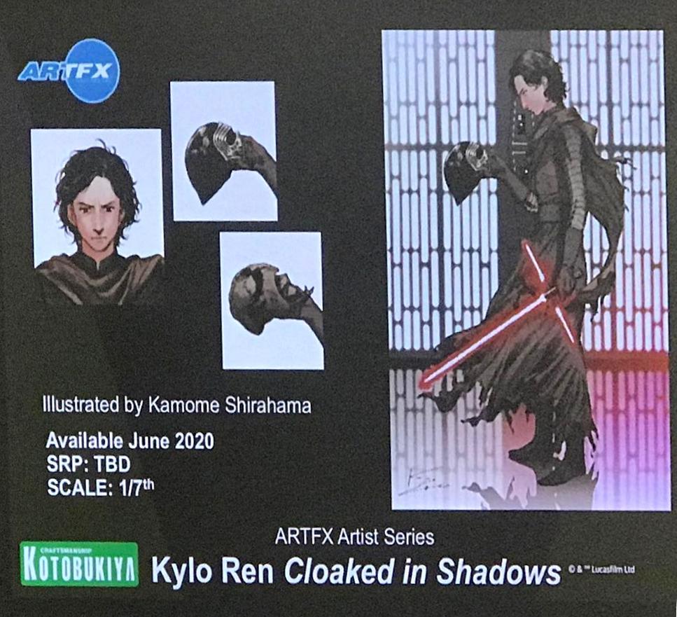 Kylo Ren Cloaked In Shadows - 1/7 ARTFX Artist - Kotobukiya Kylo_r16
