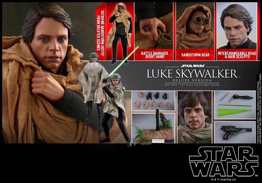 Hot Toys Star Wars Luke Skywalker ROTJ - 1:6 Figure (Deluxe) Luke_e39