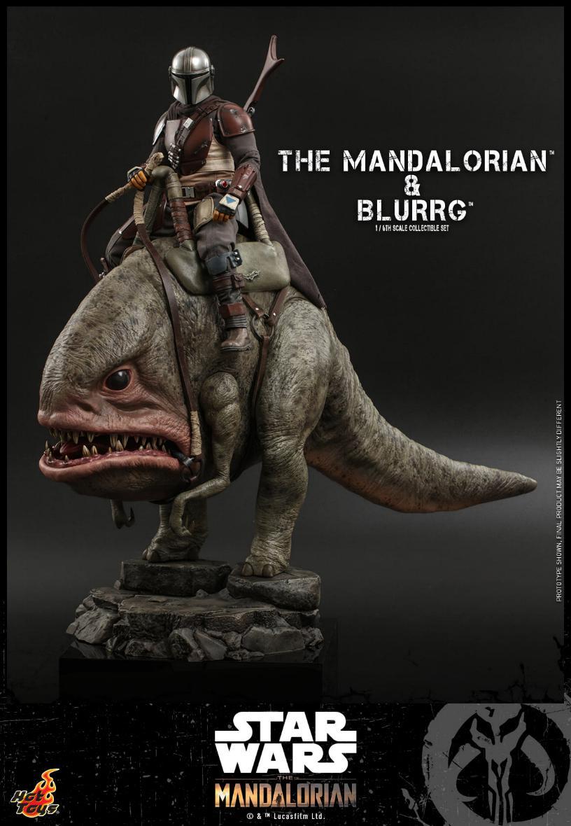 Star Wars The Mandalorian & Blurrg Collectible Set Hot Toys Mandal43