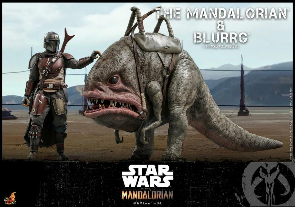 Star Wars The Mandalorian & Blurrg Collectible Set Hot Toys Mandal45