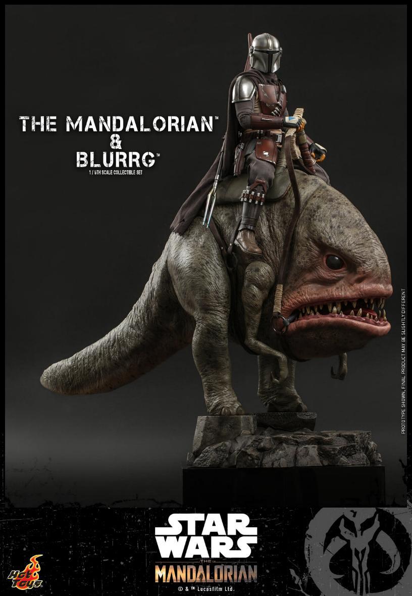 Star Wars The Mandalorian & Blurrg Collectible Set Hot Toys Mandal46
