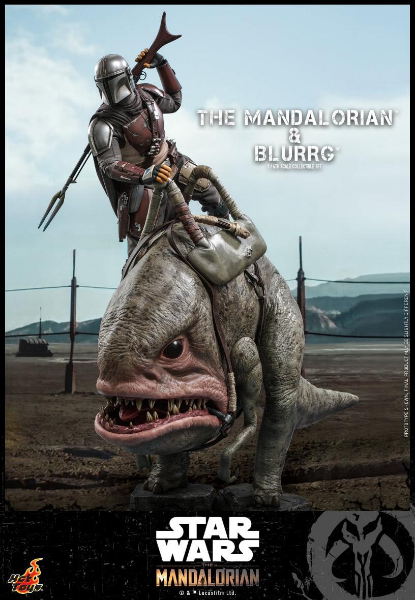 Star Wars The Mandalorian & Blurrg Collectible Set Hot Toys Mandal48