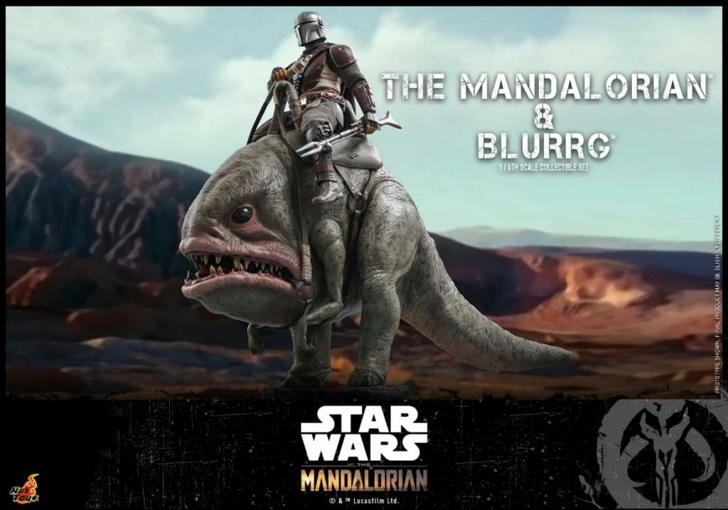 Star Wars The Mandalorian & Blurrg Collectible Set Hot Toys Mandal50