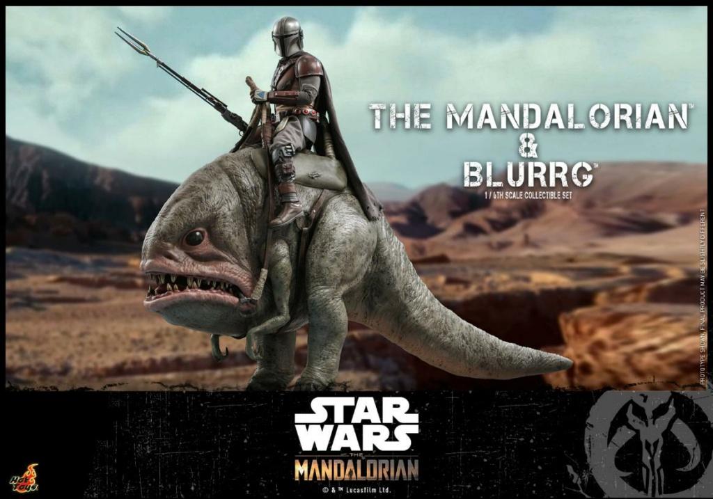 Star Wars The Mandalorian & Blurrg Collectible Set Hot Toys Mandal51
