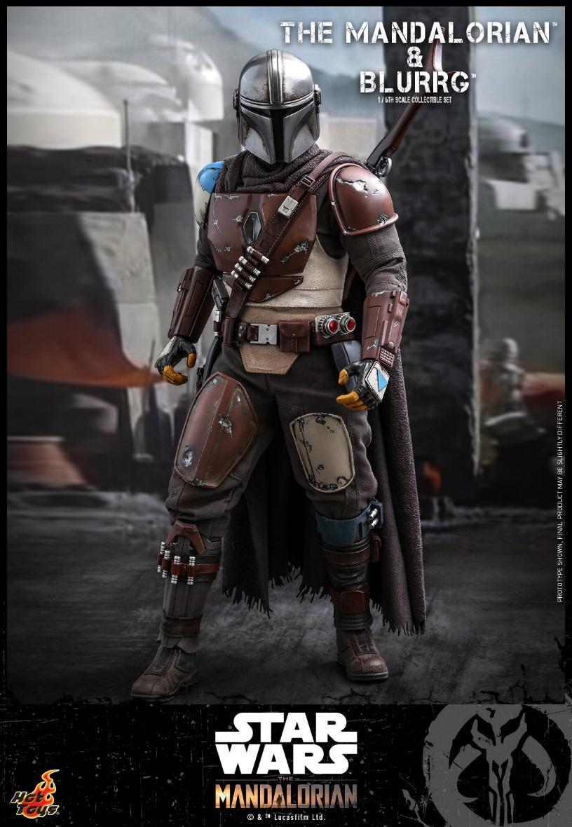 Star Wars The Mandalorian & Blurrg Collectible Set Hot Toys Mandal53