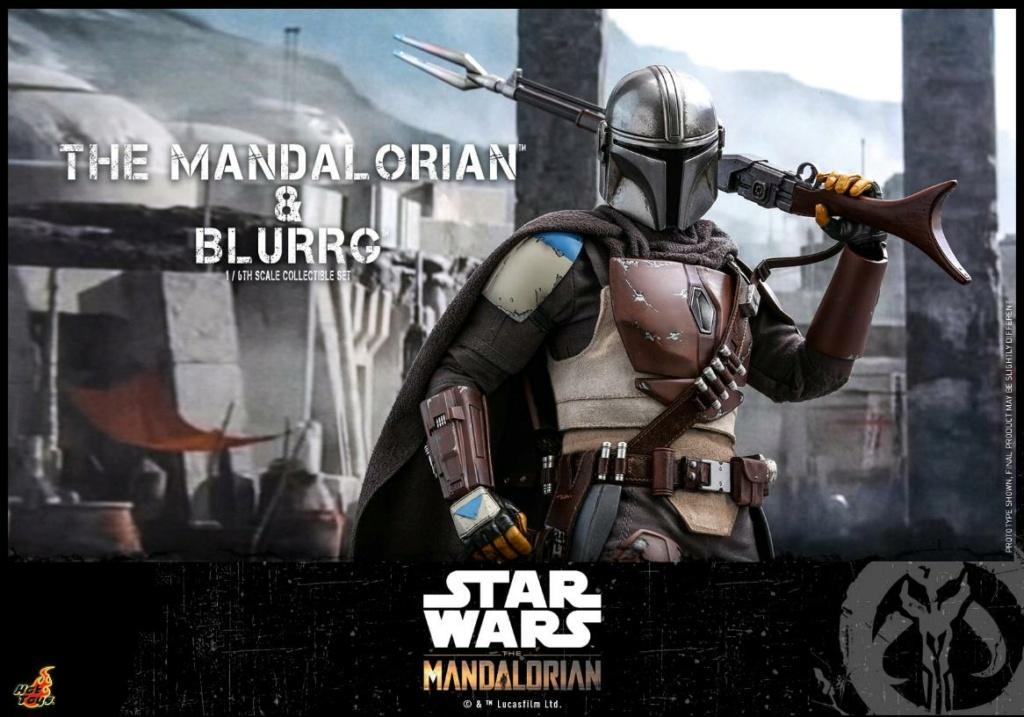 Star Wars The Mandalorian & Blurrg Collectible Set Hot Toys Mandal54