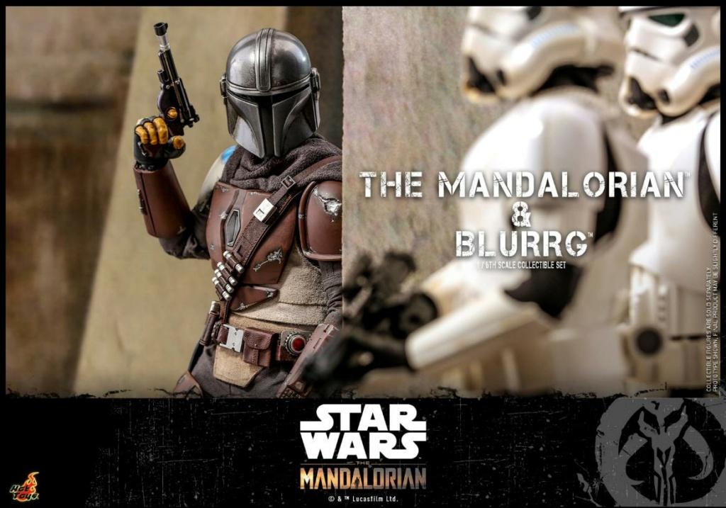 Star Wars The Mandalorian & Blurrg Collectible Set Hot Toys Mandal56