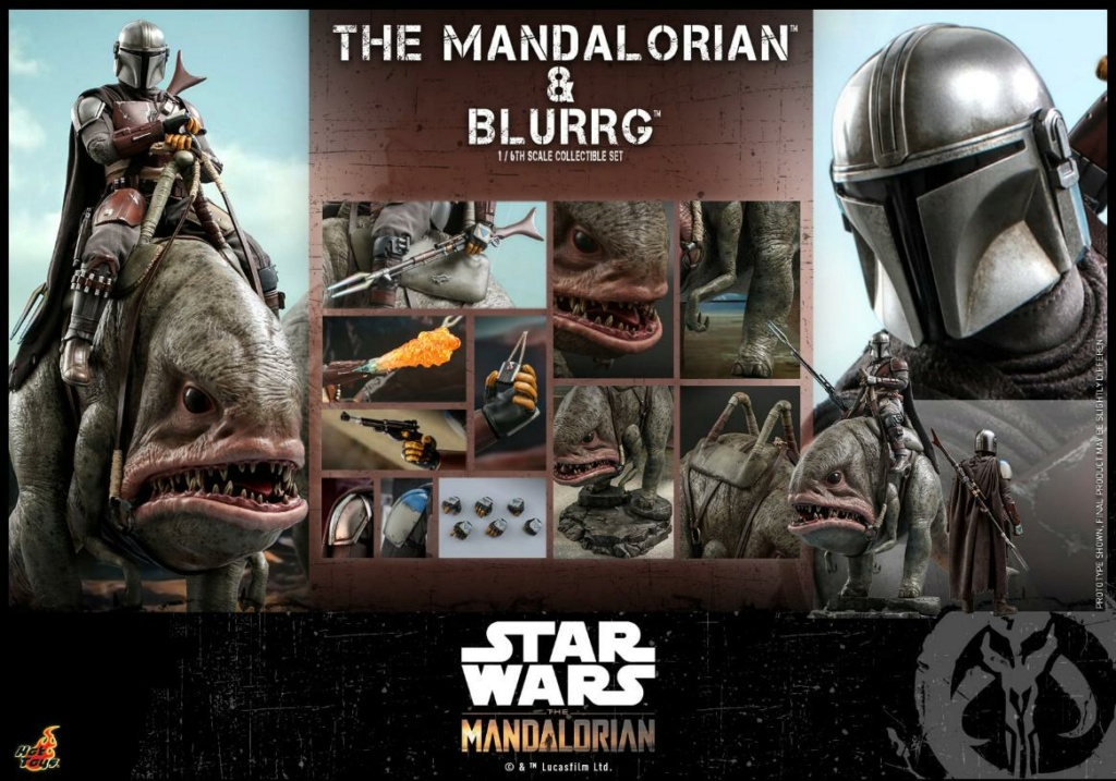 Star Wars The Mandalorian & Blurrg Collectible Set Hot Toys Mandal57