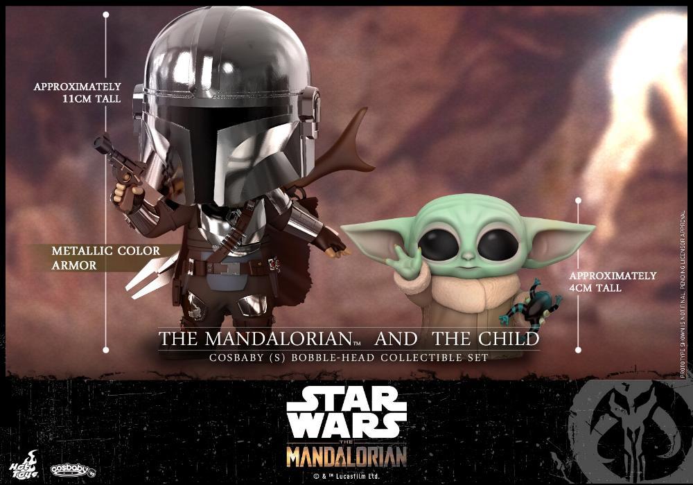 Star Wars The Mandalorian - Cosbaby Bobble-Head - Hot Toys Mando_10
