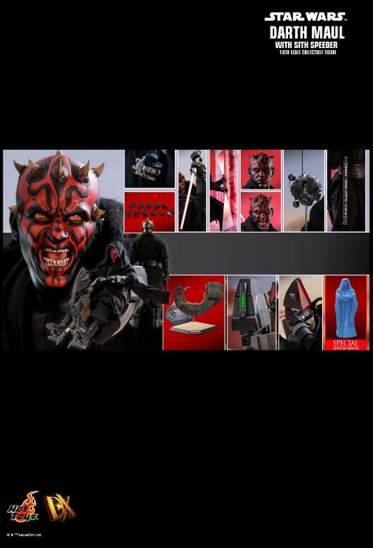 Hot Toys - Darth Maul and Sith Speeder Sixth Scale Figure Maulan38