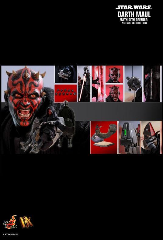 Hot Toys - Darth Maul and Sith Speeder Sixth Scale Figure Maulan39