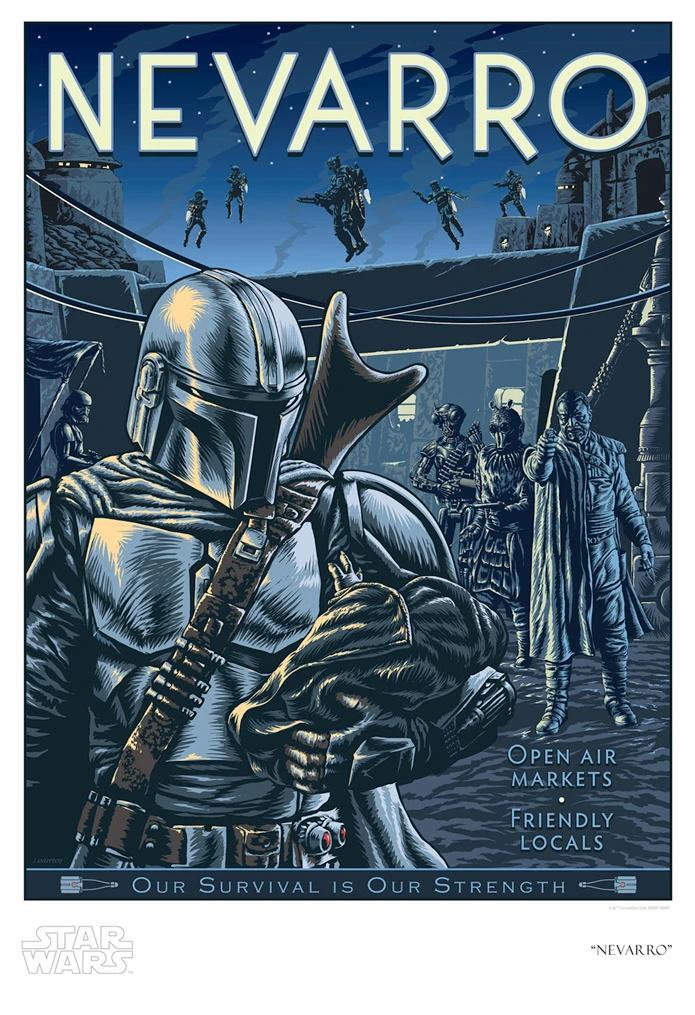 Nevarro - Artwork Star Wars - ACME Archives Nevarr10