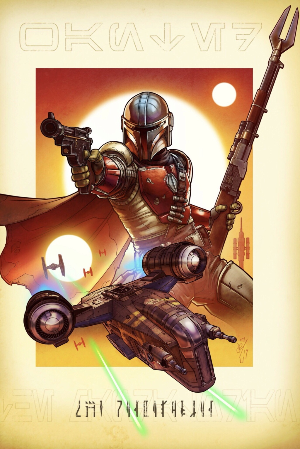 Teaser Poster Video FanMade Star Wars The Mandalorian Poster22