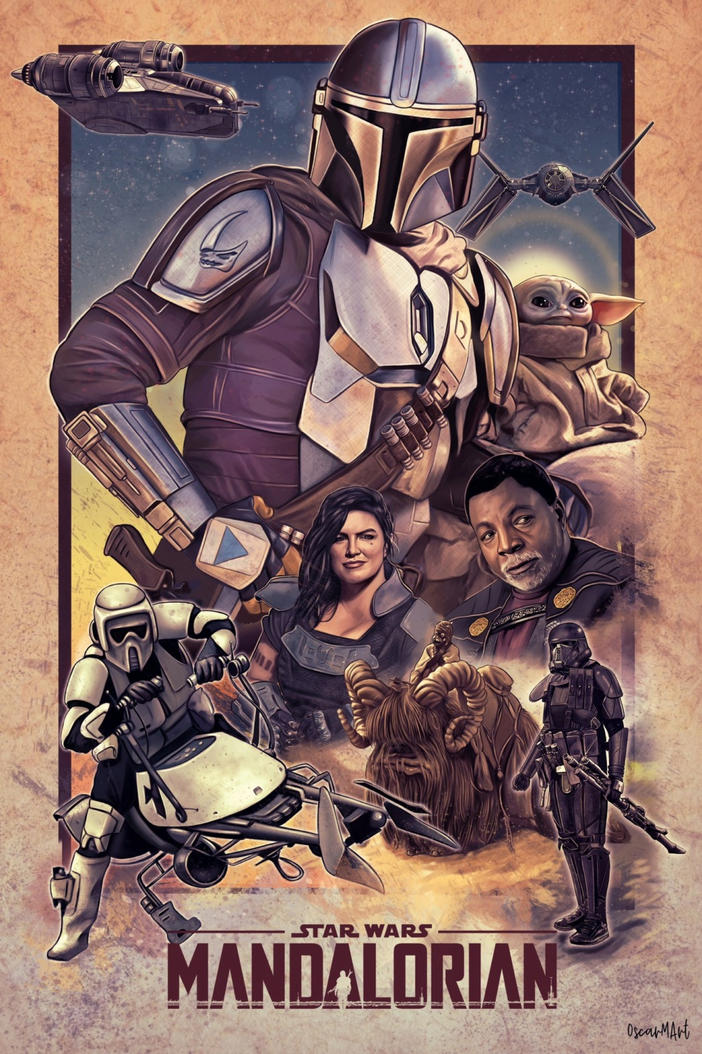 Teaser Poster Video FanMade Star Wars The Mandalorian - Page 2 Poster99