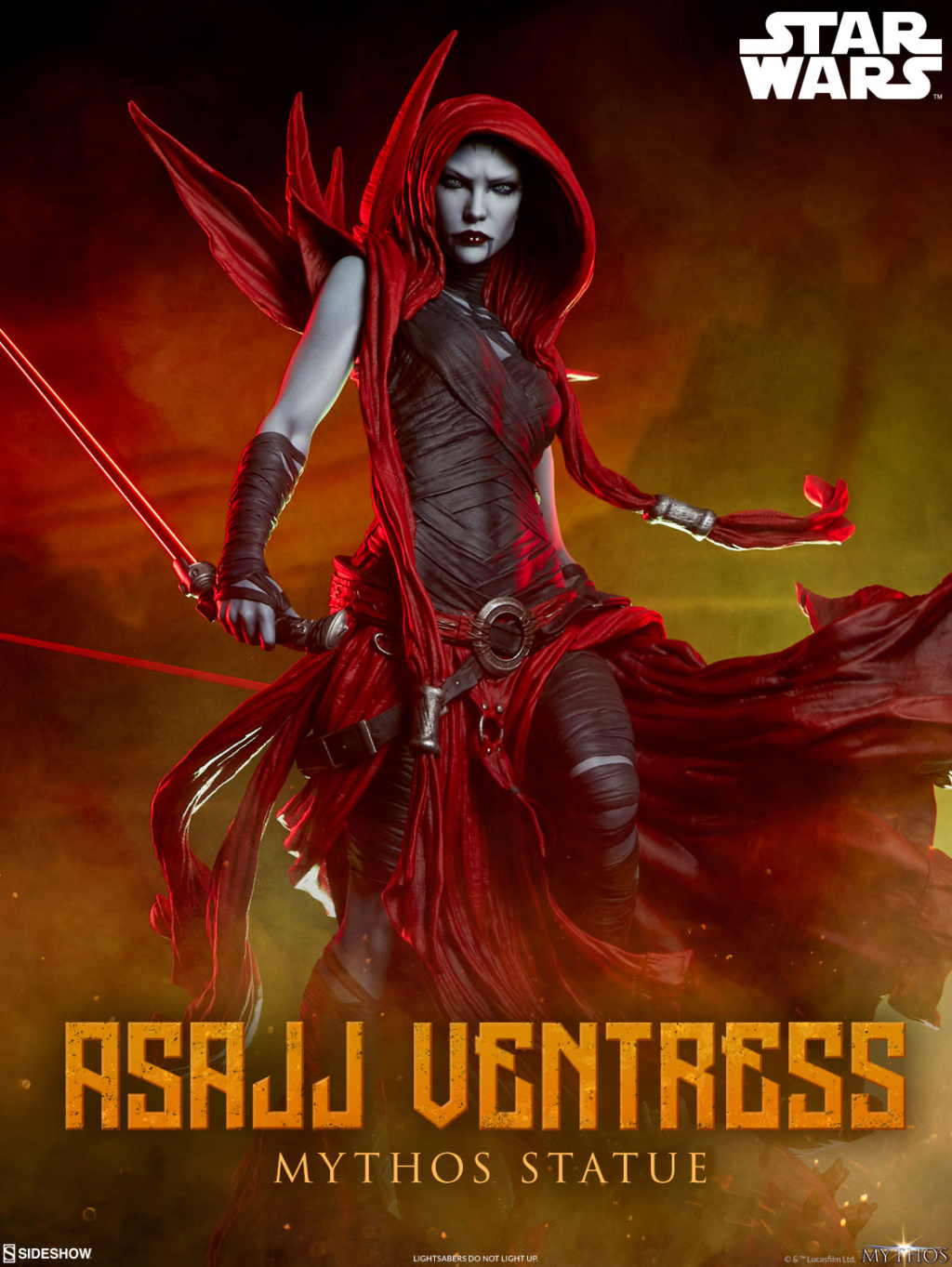 Asajj Ventress Mythos Statue - Sideshow Collectibles Previe11