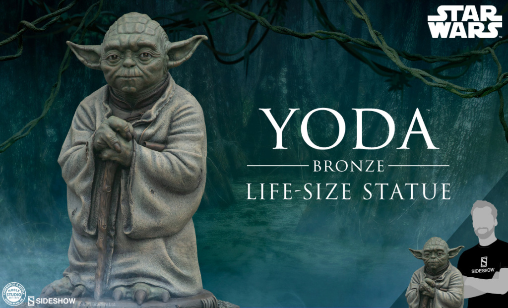 Yoda Bronze Life-Size Statue - Sideshow Collectibles  Previe12