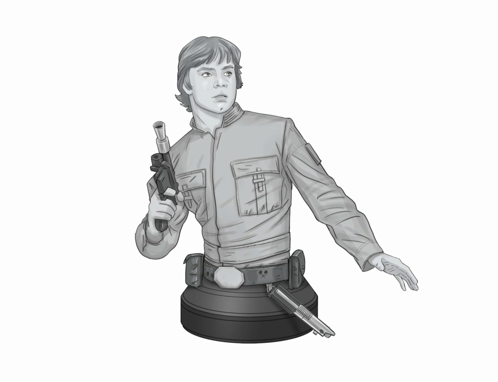 Luke Skywalker - Bespin Mini Bust - Gentle Giant Previe16