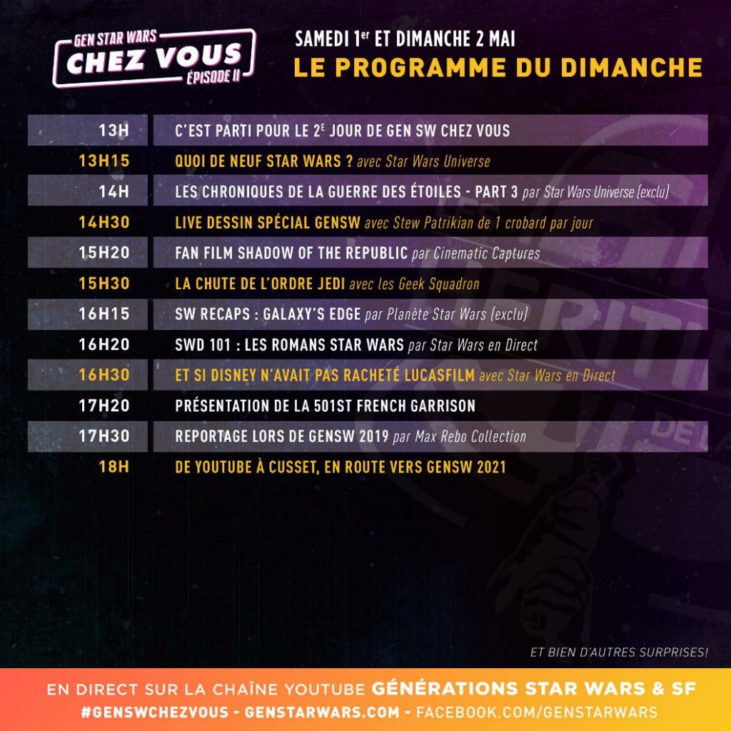 Générations Star Wars et SF Chez Vous - 1-2 mai 2021 Progra11