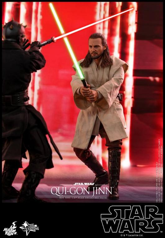 SW Episode I 1/6th Qui-Gon Jinn Collectible Figure HOT TOYS Qui-go11