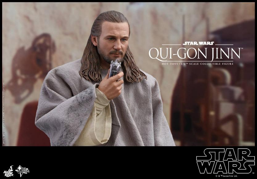 SW Episode I 1/6th Qui-Gon Jinn Collectible Figure HOT TOYS Qui-go12