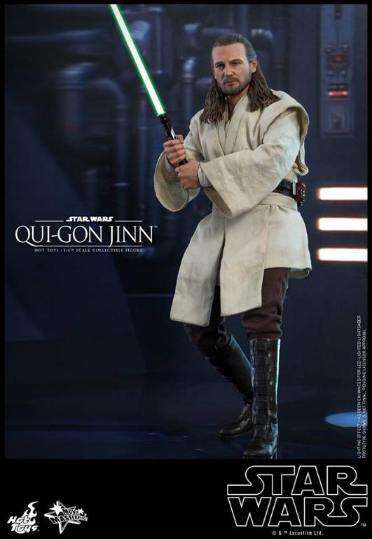 SW Episode I 1/6th Qui-Gon Jinn Collectible Figure HOT TOYS Qui-go13