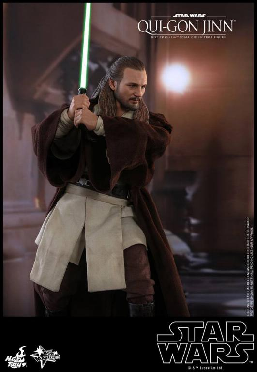 SW Episode I 1/6th Qui-Gon Jinn Collectible Figure HOT TOYS Qui-go15