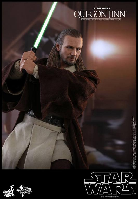 SW Episode I 1/6th Qui-Gon Jinn Collectible Figure HOT TOYS Qui-go16