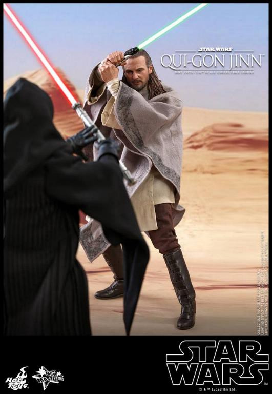SW Episode I 1/6th Qui-Gon Jinn Collectible Figure HOT TOYS Qui-go17