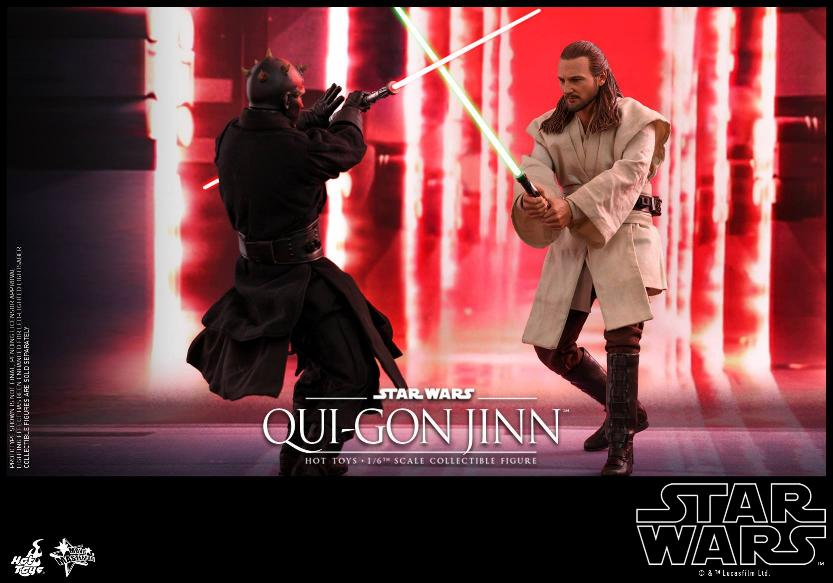 SW Episode I 1/6th Qui-Gon Jinn Collectible Figure HOT TOYS Qui-go18