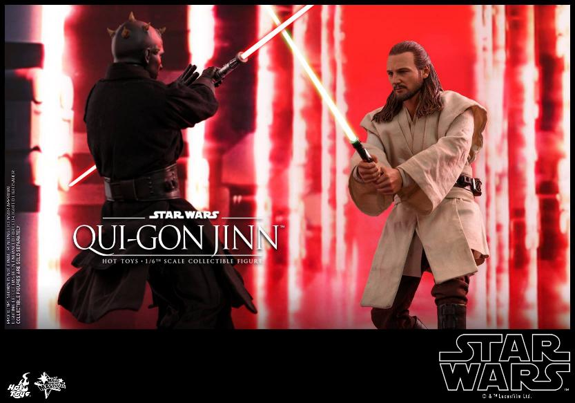 SW Episode I 1/6th Qui-Gon Jinn Collectible Figure HOT TOYS Qui-go19