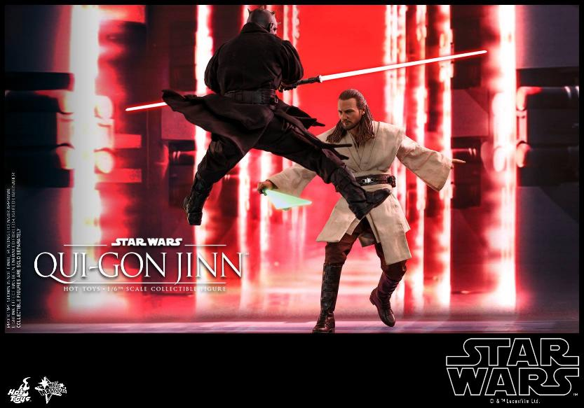 SW Episode I 1/6th Qui-Gon Jinn Collectible Figure HOT TOYS Qui-go20