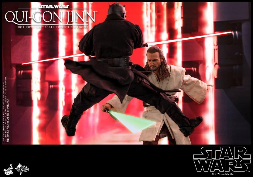 SW Episode I 1/6th Qui-Gon Jinn Collectible Figure HOT TOYS Qui-go21