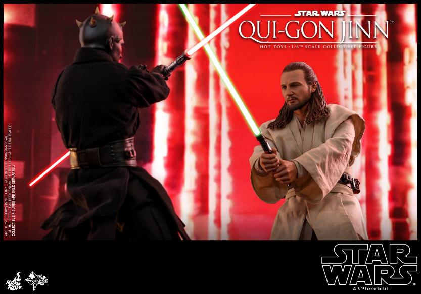 SW Episode I 1/6th Qui-Gon Jinn Collectible Figure HOT TOYS Qui-go23