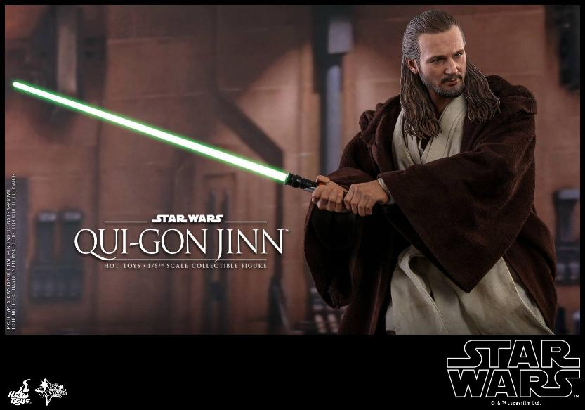 SW Episode I 1/6th Qui-Gon Jinn Collectible Figure HOT TOYS Qui-go25