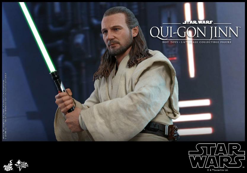 SW Episode I 1/6th Qui-Gon Jinn Collectible Figure HOT TOYS Qui-go27