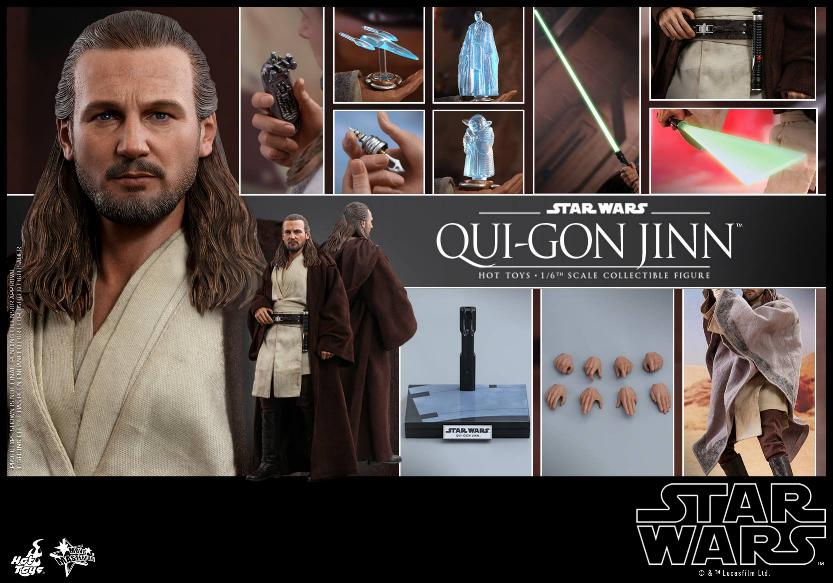 SW Episode I 1/6th Qui-Gon Jinn Collectible Figure HOT TOYS Qui-go30