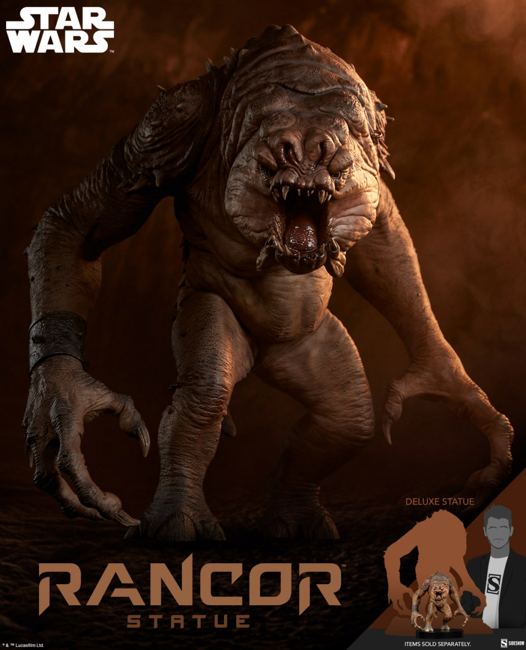 Rancor Statue (2021) - Star Wars - Sideshow Rancor10