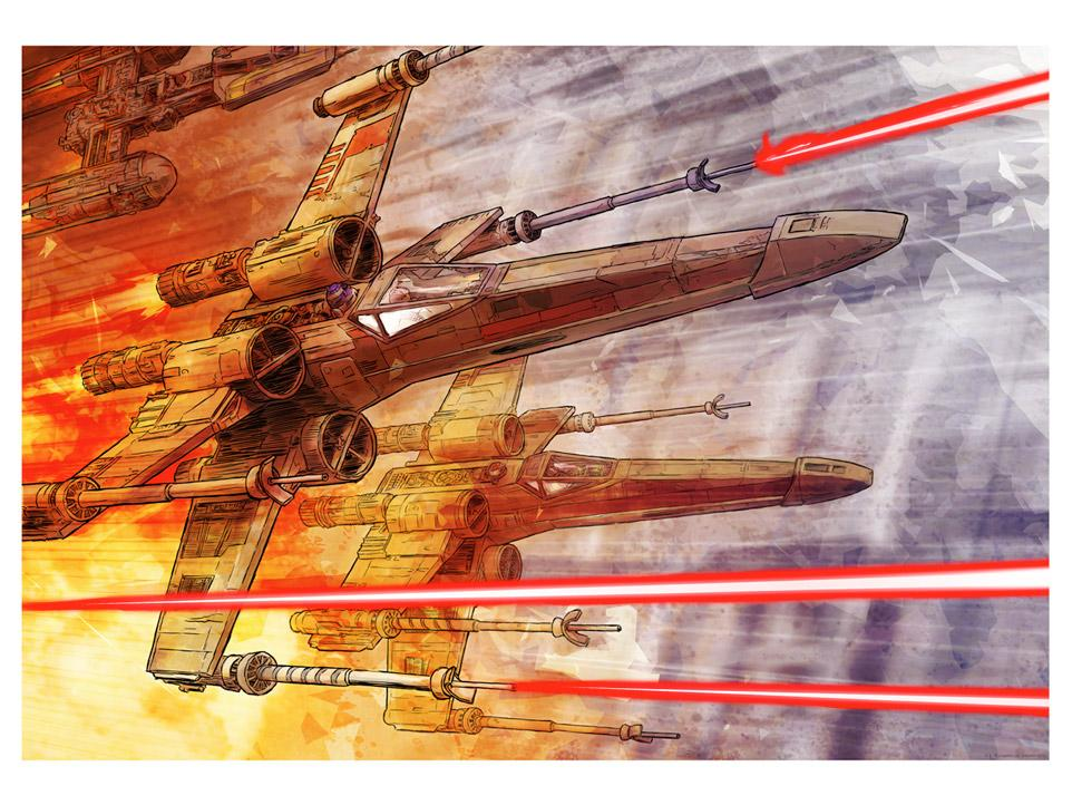 Red 5 - Artwork Star Wars - ACME Archives  Red_510