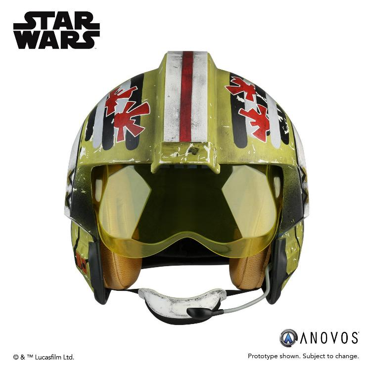 ANOVOS STAR WARS Red Leader Rebel Pilot Helmet Accessory Red_le10