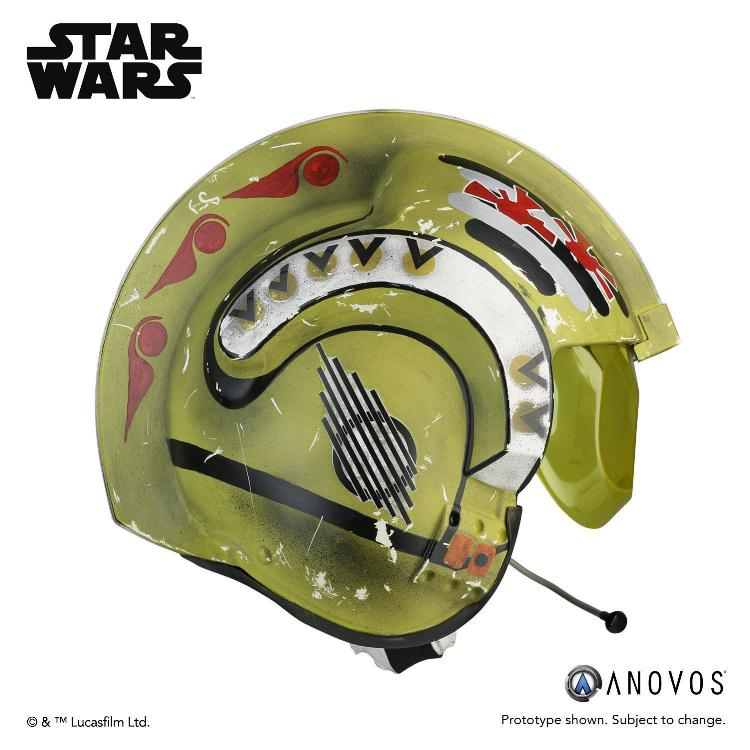ANOVOS STAR WARS Red Leader Rebel Pilot Helmet Accessory Red_le11