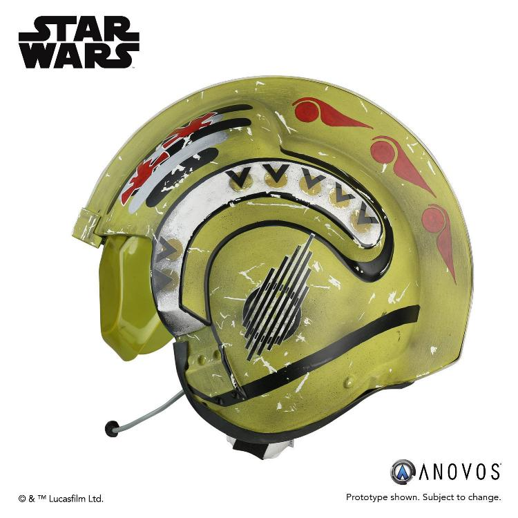 ANOVOS STAR WARS Red Leader Rebel Pilot Helmet Accessory Red_le13