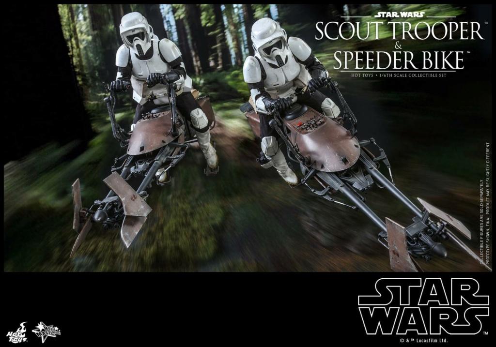 Scout Trooper & Speeder Bike 1:6 - Hot Toys - Star Wars ROTJ Scout_41