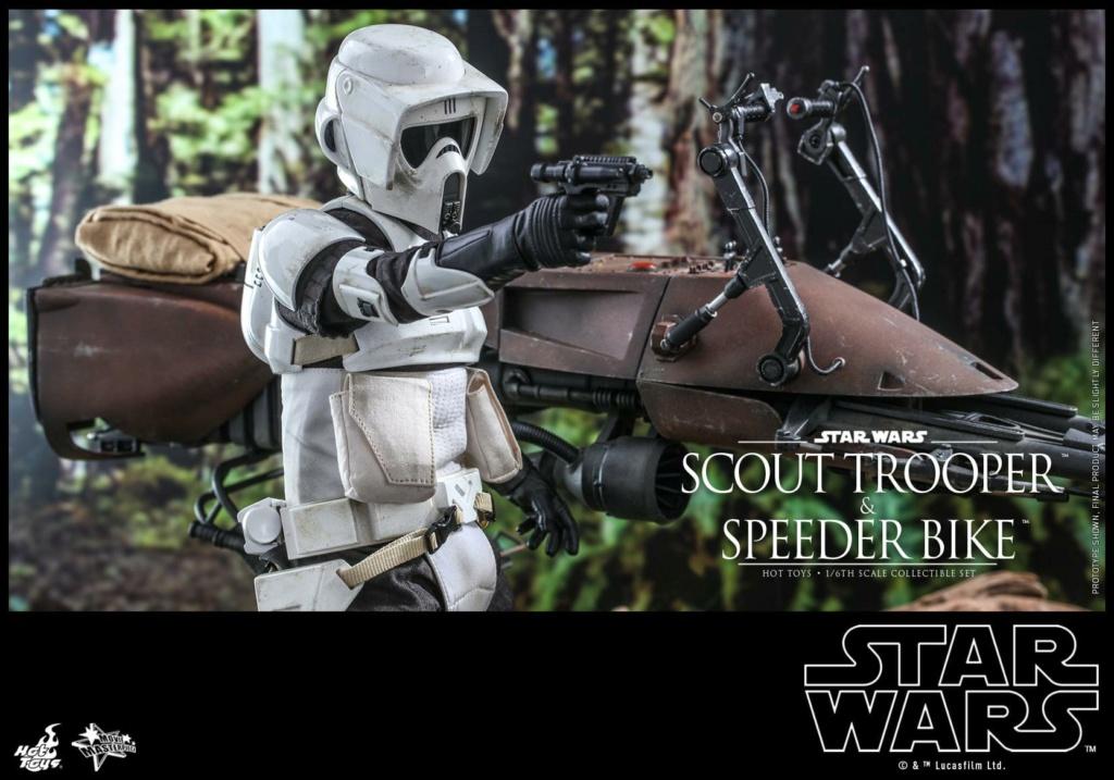 Scout Trooper & Speeder Bike 1:6 - Hot Toys - Star Wars ROTJ Scout_50