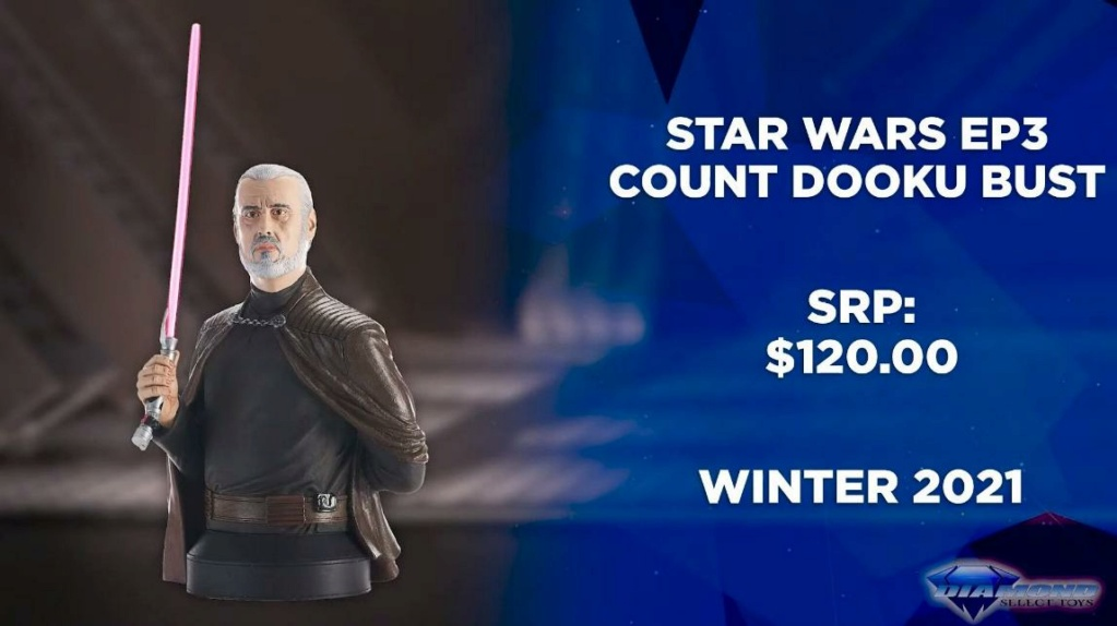 Dooku Mini Bust - Gentle Giant / Diamond Select Toys Showca40