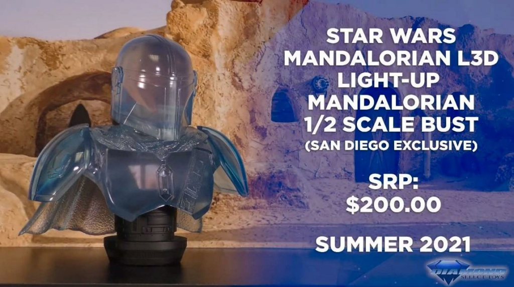 The Mandalorian hologram Legends 3D Bust - Gentle Giant Showca48