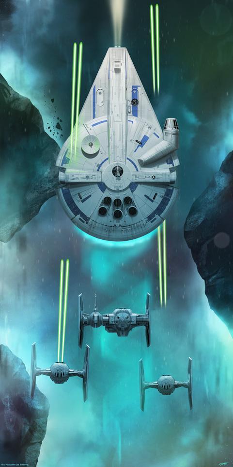Artwork Star Wars DARK INK - Solo Escape EXCLU SDCC2018 Solo_e10
