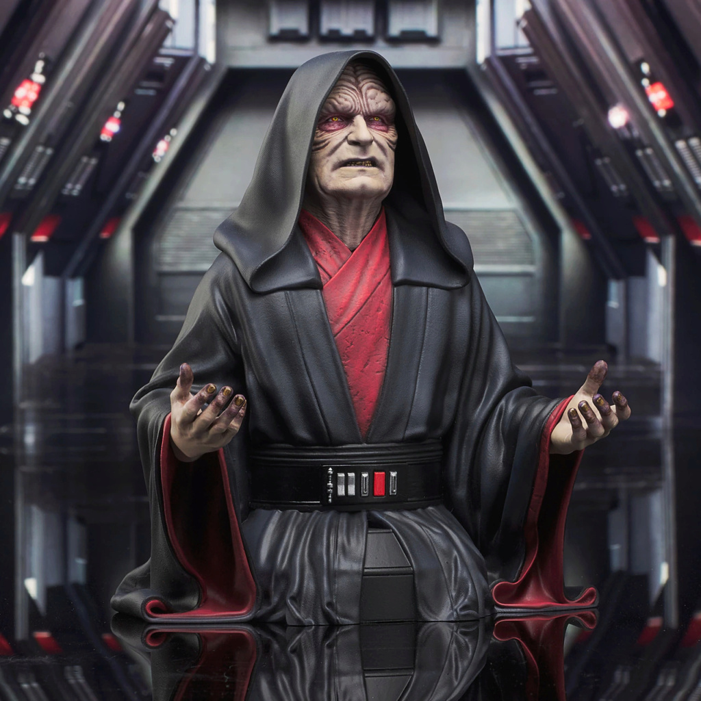 Palpatine Mini Bust - The Rise Of Skywalker - Gentle Giant Sw_emp12