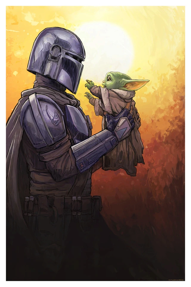 The Kid Comes With Me - Artwork Star Wars - ACME Archives The_ki10