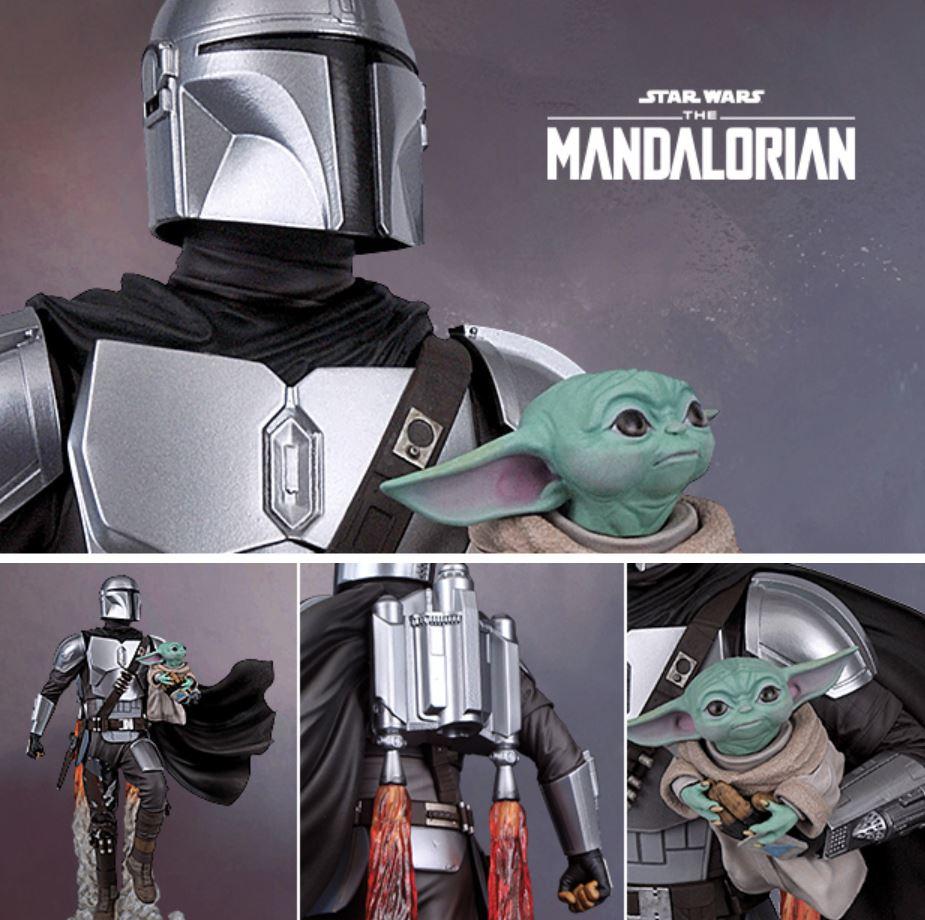 The Mandalorian & Child Milestone Statue - Gentle Giant The_ma46